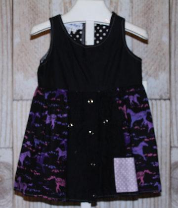 Purple/Pink Horses Western Dress