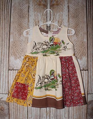 Wagons and cowboys dress