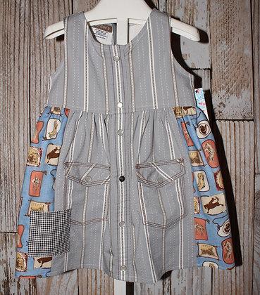 Gray Stripes dress