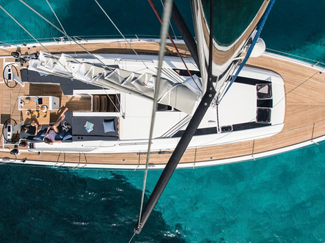 Cavo Yachting _Oceanis 51.1 Charter _Aerial View