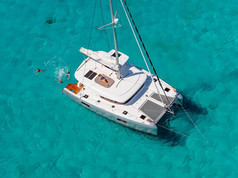 Cavo Yachting _ Lagoon 42 Charter _ Aerial View