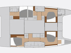 Cavo Yachting _ Fountaine Pajot 47 Charter _ Layout