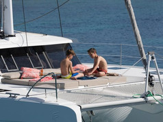Cavo Yachting _ Fountaine Pajot 47 Charter _ Trampoline