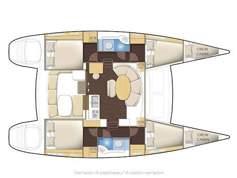 Cavo Yachting _ Lagoon 380 Charter _  Layout