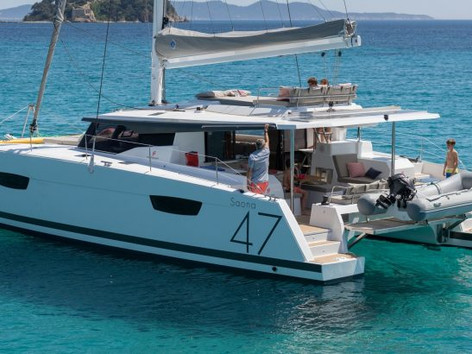 Cavo Yachting _ Fountaine Pajot 47 Charter _ At Anchor
