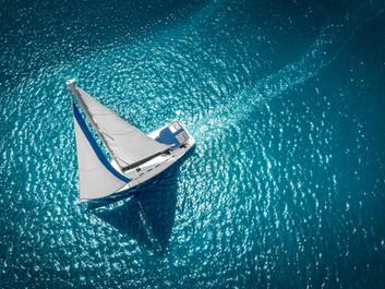 Regatta sailing ship yachts with white s