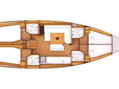Cavo Yachting _ Sun Odyssey 479 Charter _ Layout