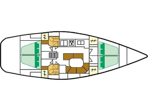 Cavo Yachting _ Beneteau Oceanis Clipper 461 Charter _ Layout
