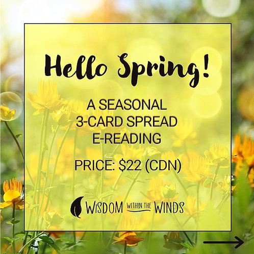 Hello Spring: A Seasonal 3-Card Spread - Email Reading