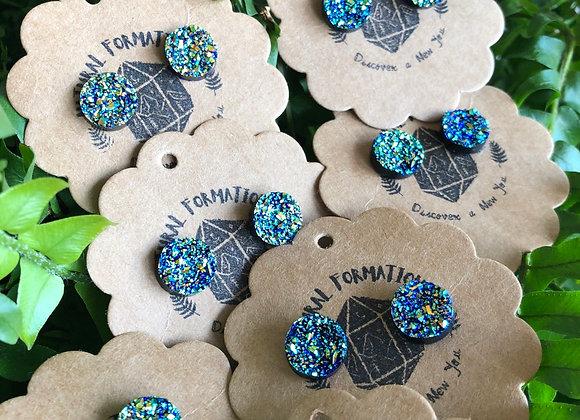Titanium Aura Druzy Stud Earrings