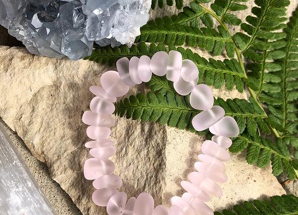 Adult Pink Seaglass Bracelet