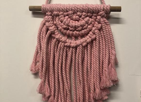 Pink Macrame Wall Hanger