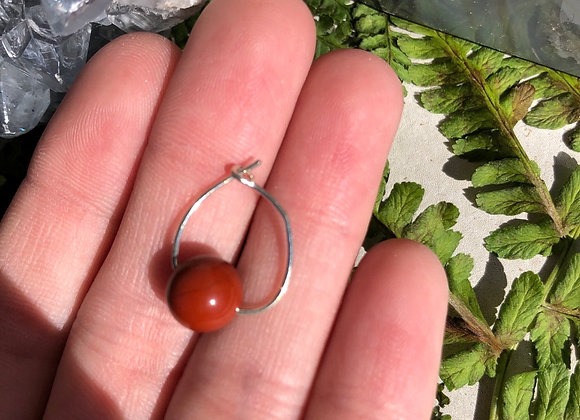Red Jasper Cartilage Earring