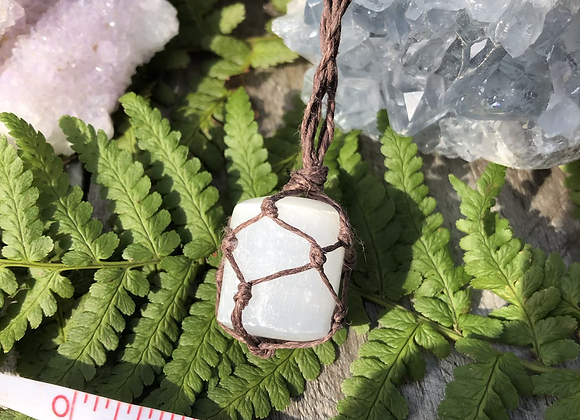 Selenite Macrame Necklace