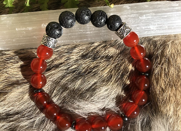 Carnelian Aromatherapy Bracelet