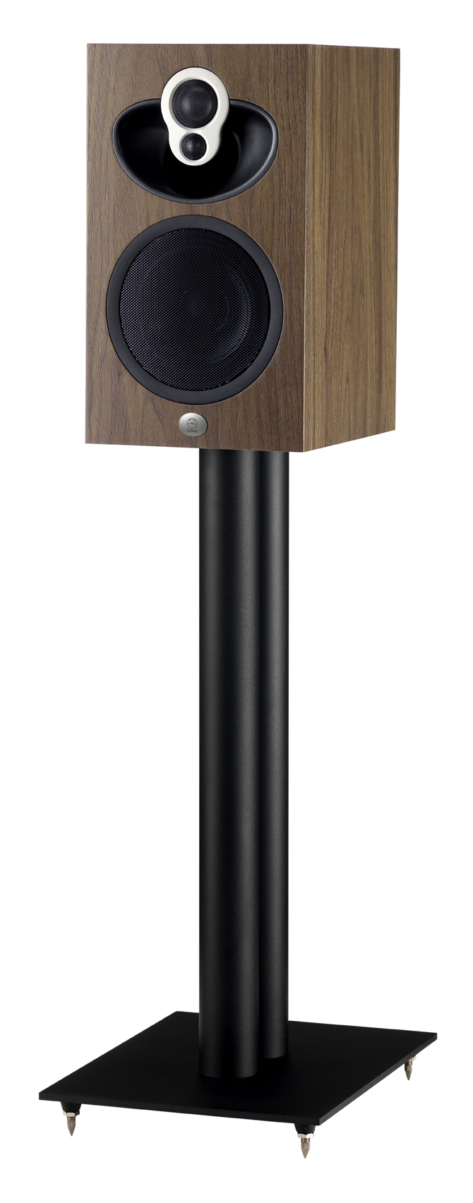 Majik109_Walnut_on_Black_Stand_RGB_72DPI