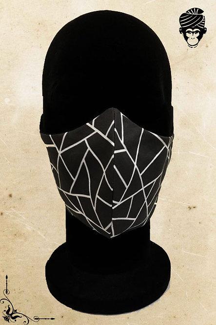 Mondmasker Heren BLACK WHITE
