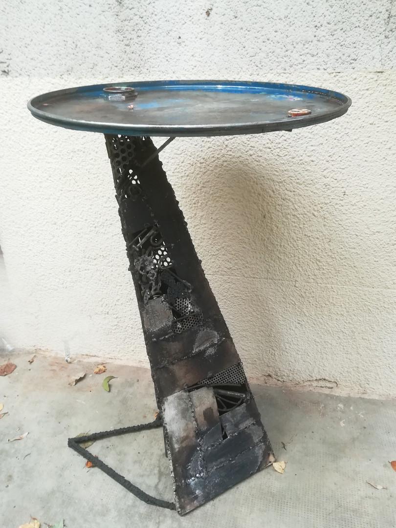 """table haute """"de bar"""", haut: 97cm; métal"""