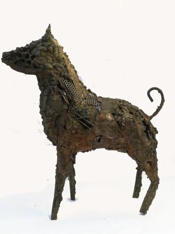 le chien, acier patiné, 40_12_40cm