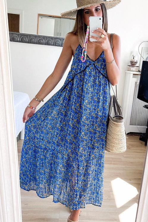 Robe Eloa bleue fleurie