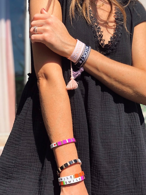 Bracelets LUCKY et ROCK/LOVE