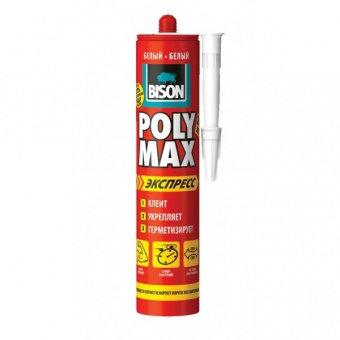 Клей-герметик полимерный белый BISON Poly Max EXPRESS WHITE, 425 гр.
