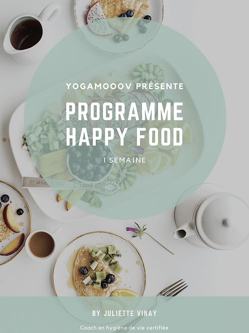 Programme Happy Food Detox