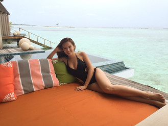 Rabeea Yeung honeymoon @ Maldives