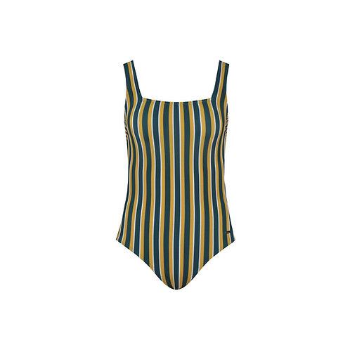 Pinstripe Swimsuit