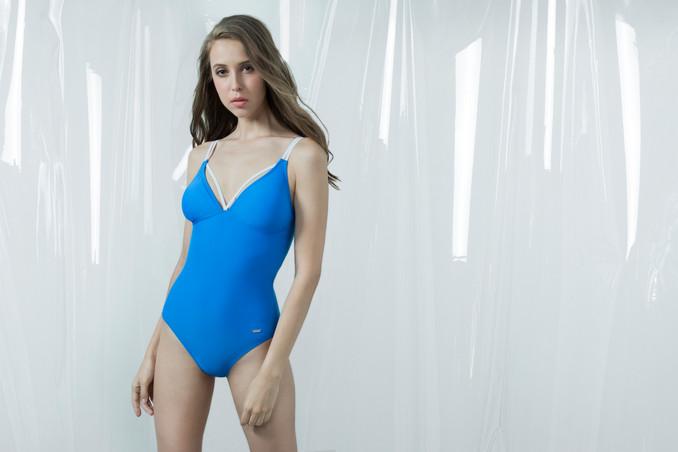 Strip N Strap Swimsuit - BLUE