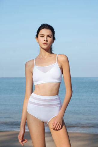Sheer Bikini - White