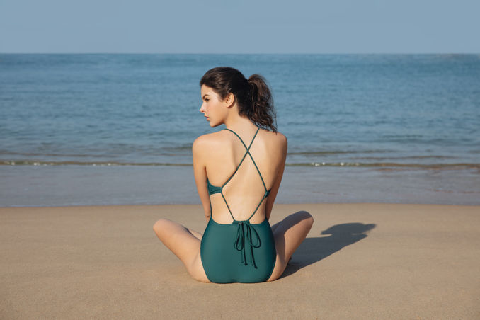 Interlace Swimsuit - Dark Green