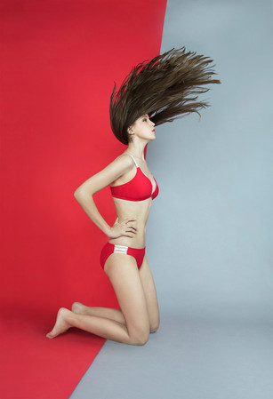 Strip N Strap Bikini - RED