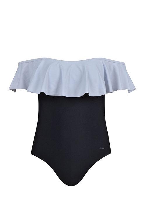 Psychotropical Off Shoulder Swimsuit