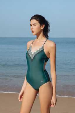 Interlace Swimsuit - Dark Green