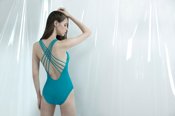 Criss Cross Swimsuit - TEAL