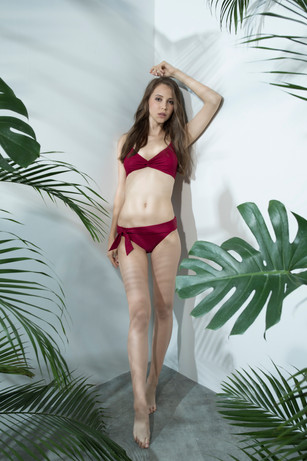 Tie In Bikini - DARK RED