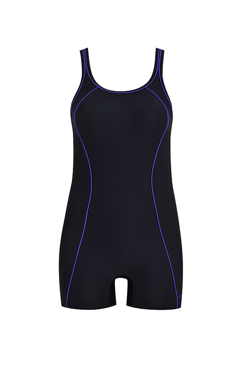 Piped Up Flatleg Swimsuit
