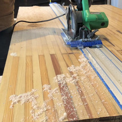 Cutting bowling alley to final size