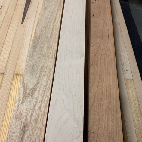 Hardwood species for trimming out bowling alley table