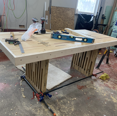 In progress Bowling alley table