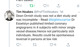 Reversal of CAD: What diet is best? A response to Noakes and Teicholz
