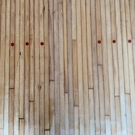 Red Dots on Bowling Alley