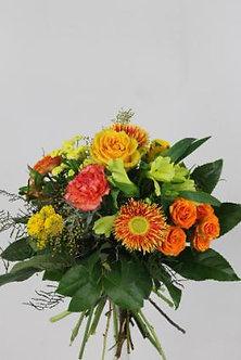 Strauss in orange und gelb
