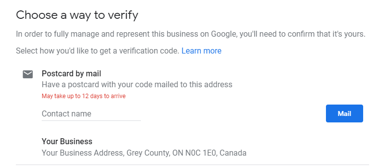 Google My Business Setup Guide - Verification