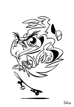 Skater Owl