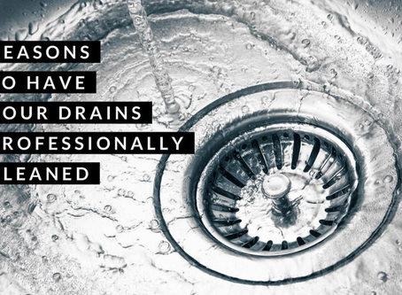 Why you should have your drains professionally cleaned