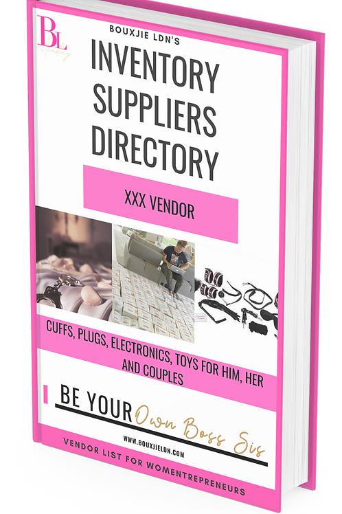 Erotic XXX Vendor List