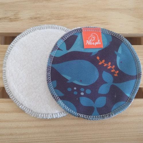 Abs seio reutilizável Baleia-azul