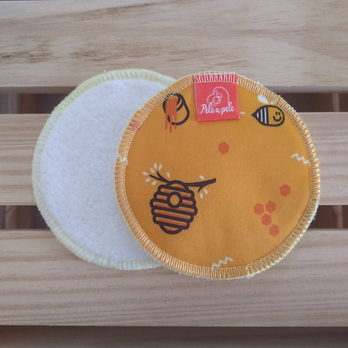 Abs seio reutilizável Abelha-cara-amarela